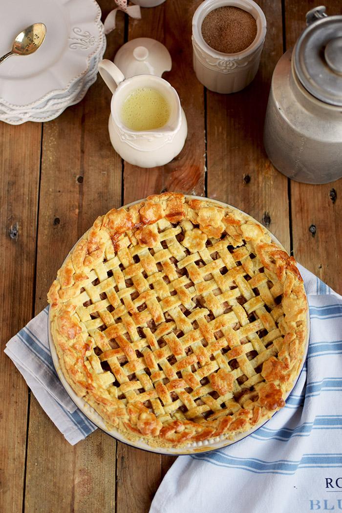 Lattice Apple Pie Apfelkuchen Mit Knuspriger Gitter Decke