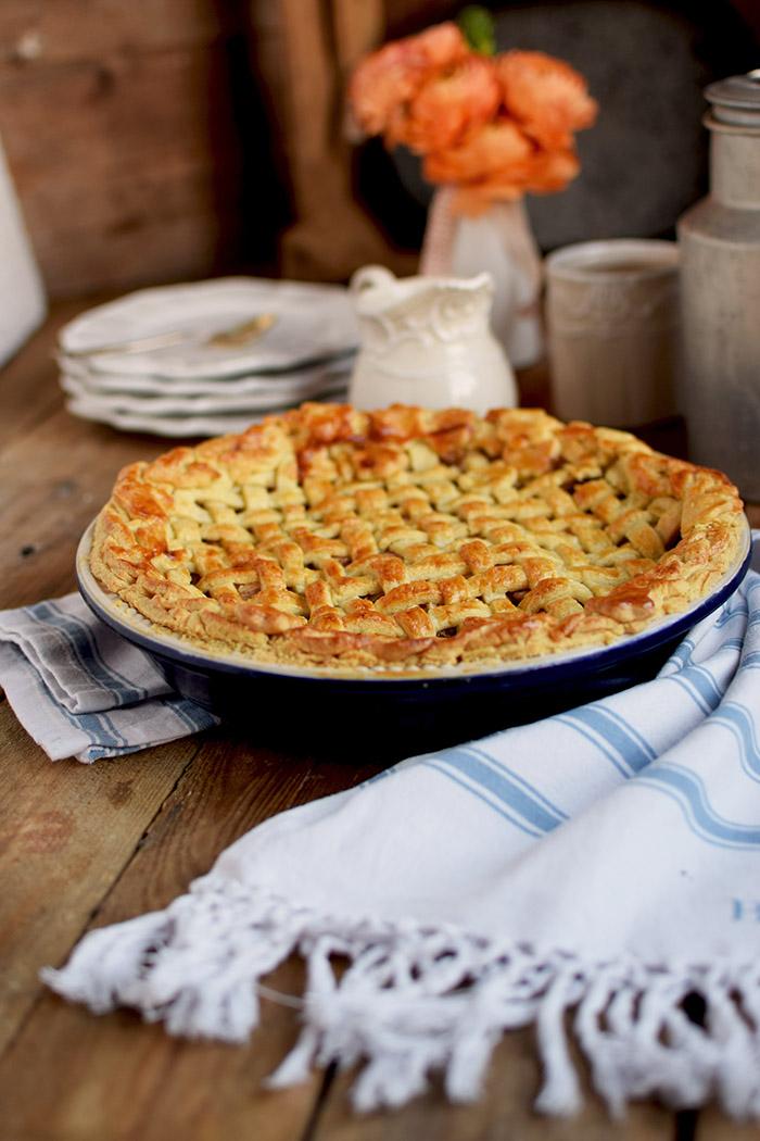 Lattice Apple Pie - Apfelkuchen mit knuspriger Gitter Decke (7)