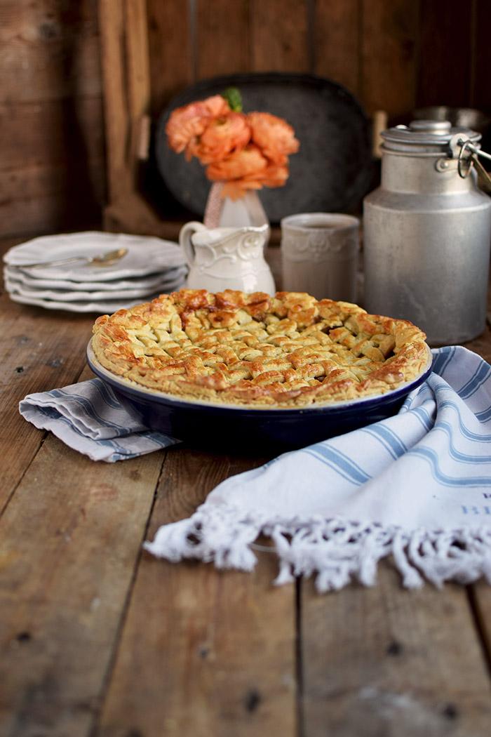 Lattice Apple Pie - Apfelkuchen mit knuspriger Gitter Decke (8)