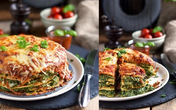 Pancake Stack mit Spinat und Tomaten: Pancake Freude