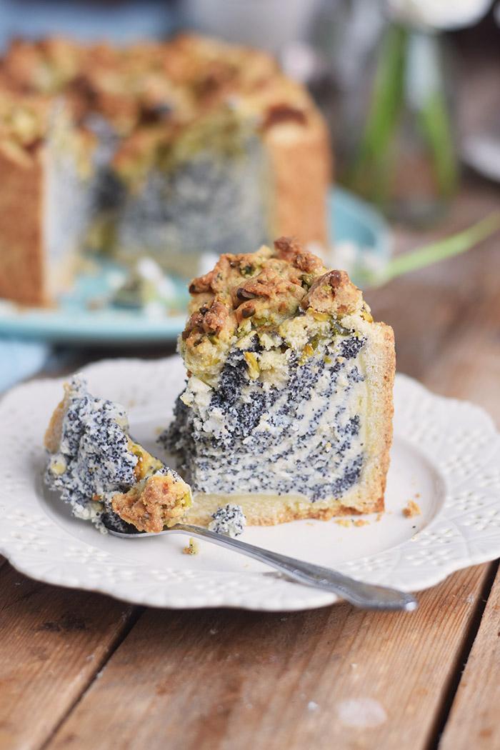 Poppy Seed Crumble Cheesecake - Mohn Streuselkuchen mit Quark (1)