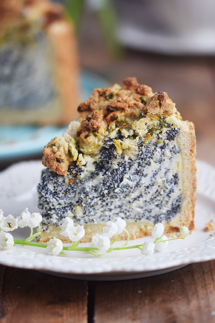 Mohn Streusel Quark Kuchen Poppy Seed Crumble Cheesecake