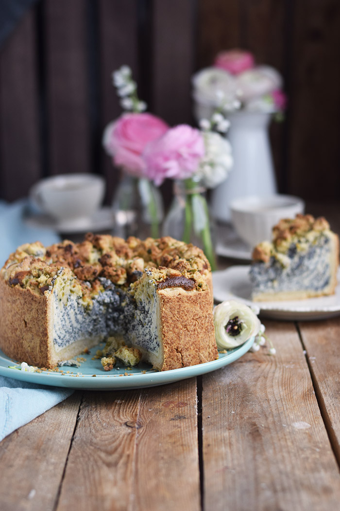 Poppy Seed Crumble Cheesecake - Mohn Streuselkuchen mit Quark (8)