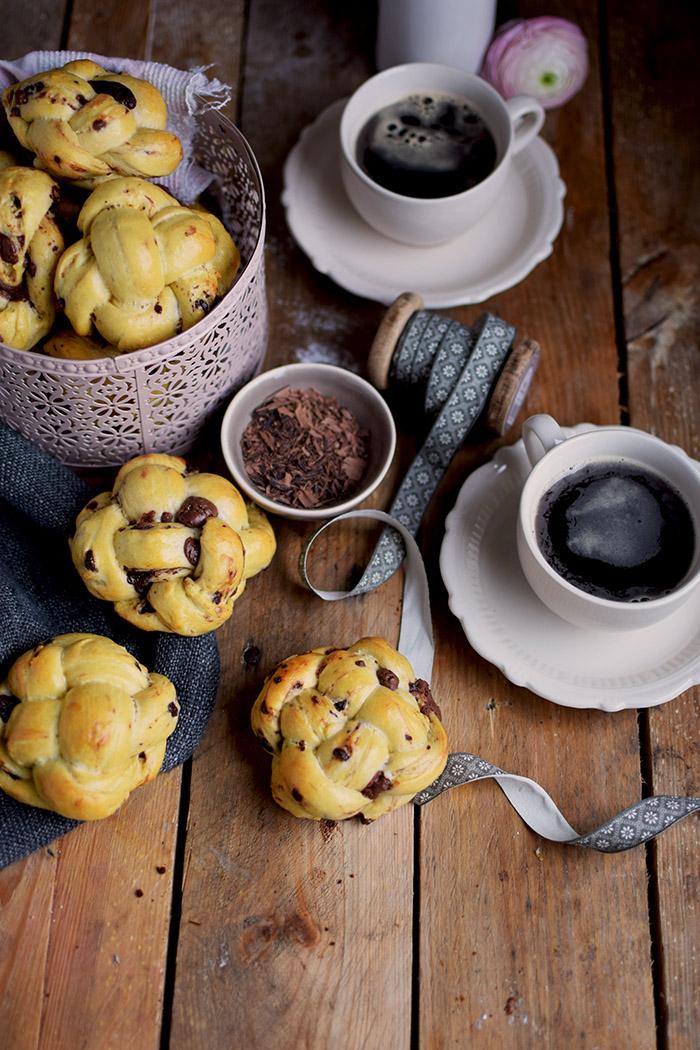 Schoko Brioche Brötchen - Chocolate Brioche Buns (6)