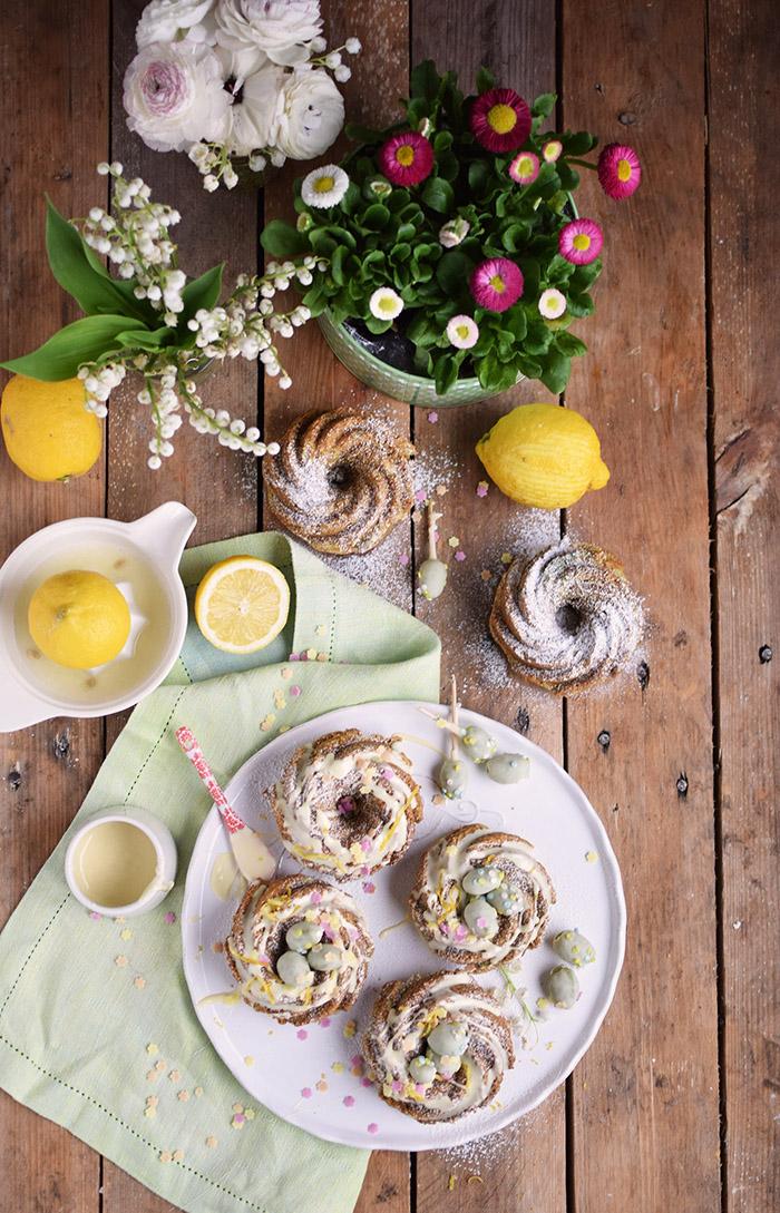 Zitronen Avocado Gugelhupf mit Schokoeiern - Lemon Avocado Bundt Cake (22)