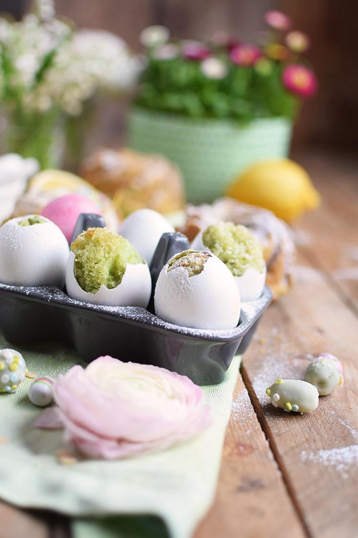 Zitronen Avocado Osterkuchen - Lemon Avcado Cake - Egg Cake - Cake in Egg (3)