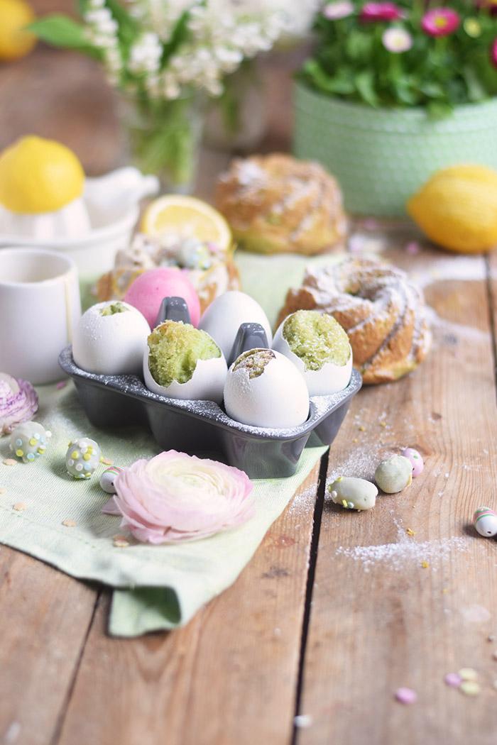 Zitronen Avocado Osterkuchen - Lemon Avcado Cake - Egg Cake - Cake in Egg (7)