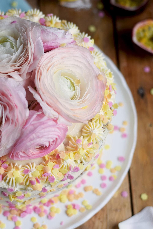 Zitronen Maracuja Torte - Lemon Passion Fruit Cake - Geburtstagstorte - Birthday Cake (10)