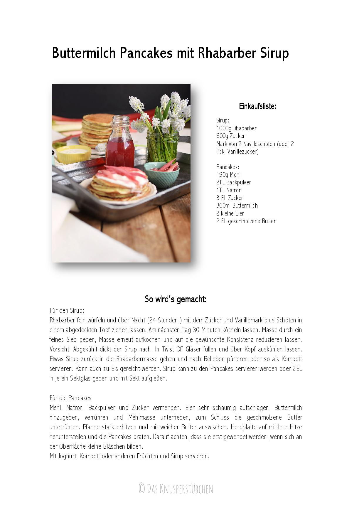 Buttermilch Pancakes mit Rhabarber Sirup - Pancakes with rhubarb syrup-001