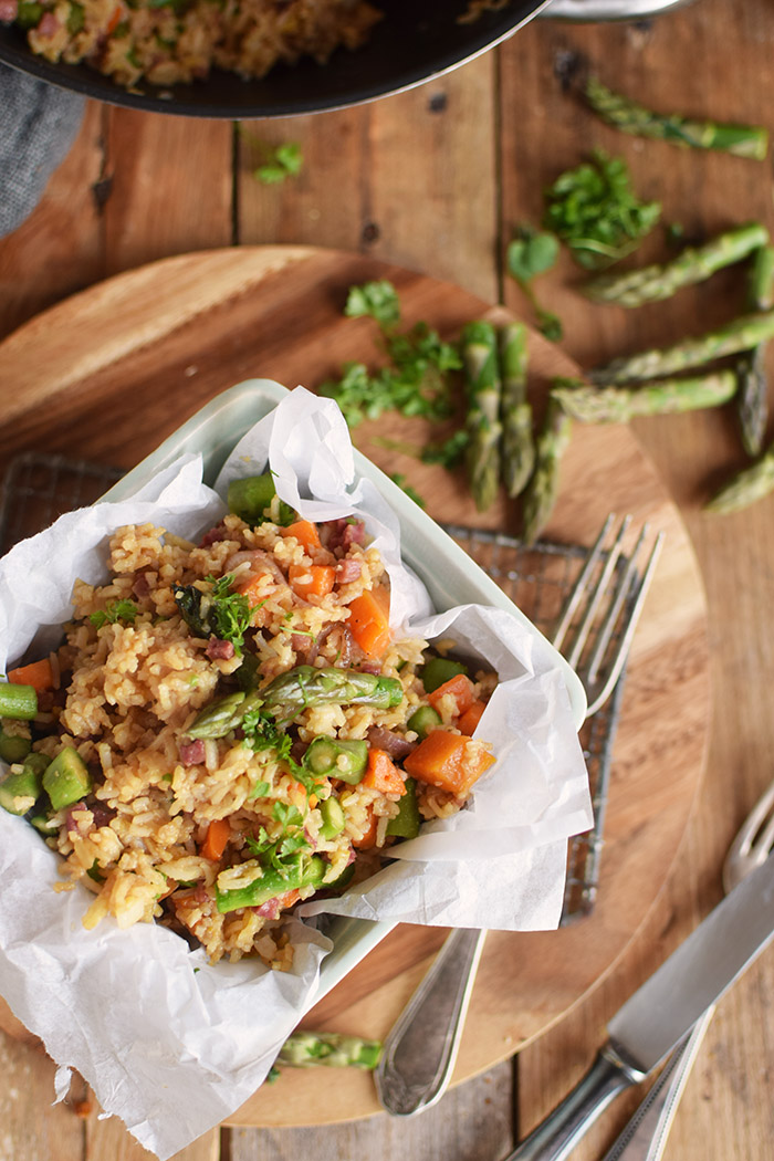 Fried Rice with asparagus - Gebratener Reis mit Spargel (10)