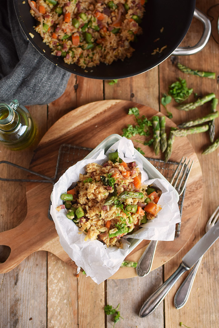 Fried Rice with asparagus - Gebratener Reis mit Spargel (11)