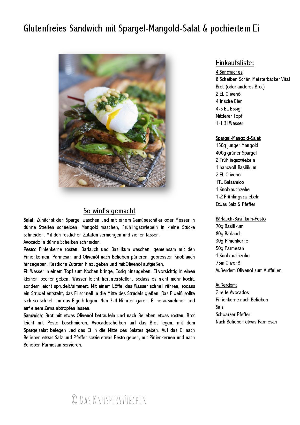 Glutenfreies Sandwich mit Spargel-Mangold-Salat & pochiertem Ei-001