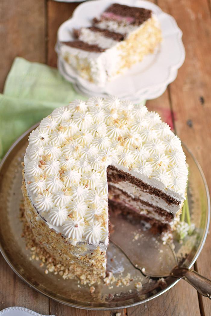 Marzipan-Krokant-Beeren-Torte - Marzipan Crunch Berry Cake (27)