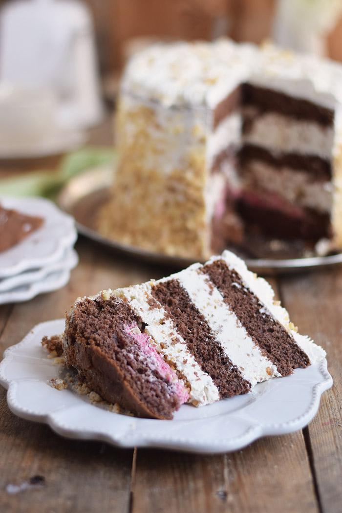 Marzipan-Krokant-Beeren-Torte - Marzipan Crunch Berry Cake (32)