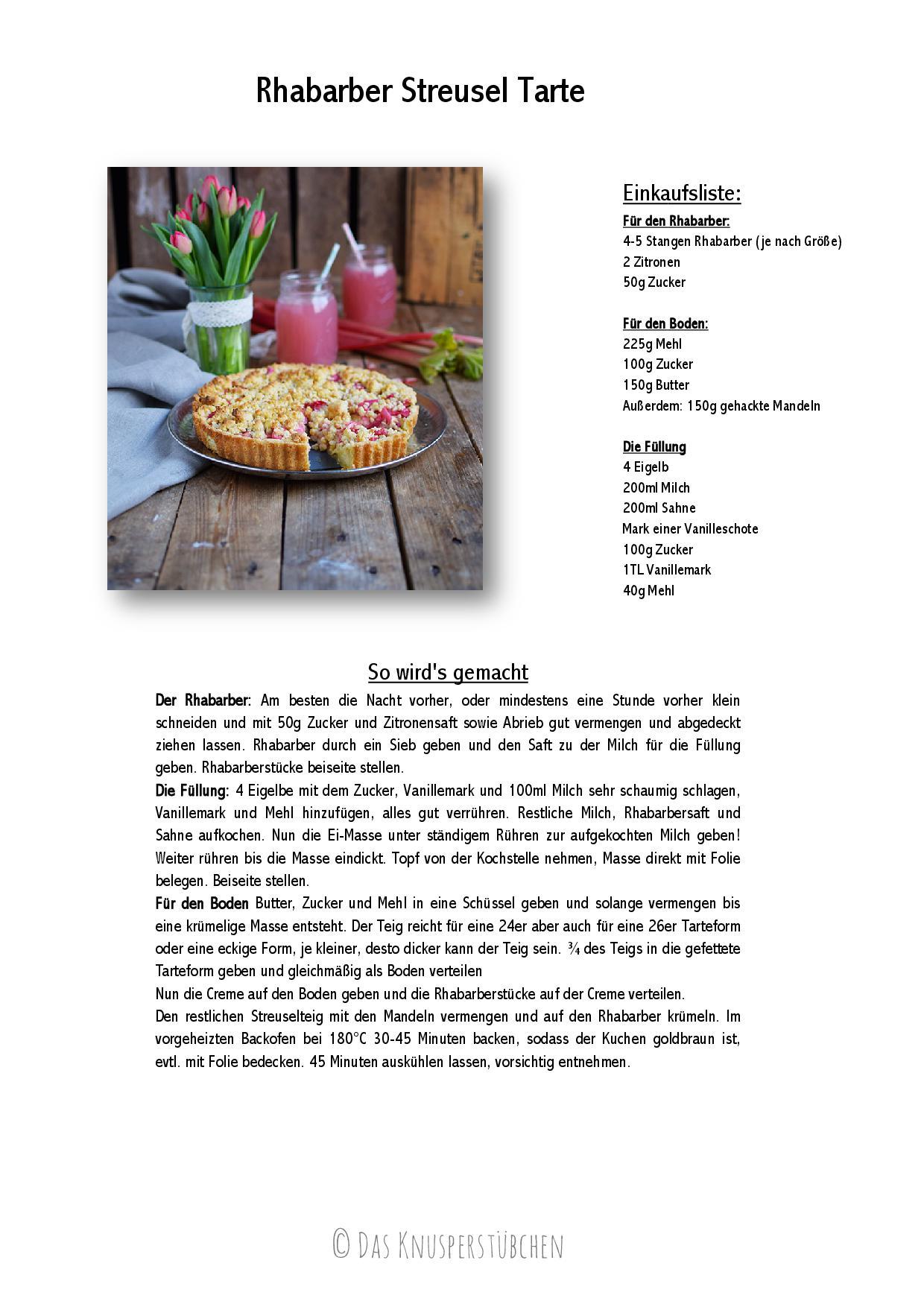Rhabarber Streusel Tarte - Rhubarb Crumble Tart-001