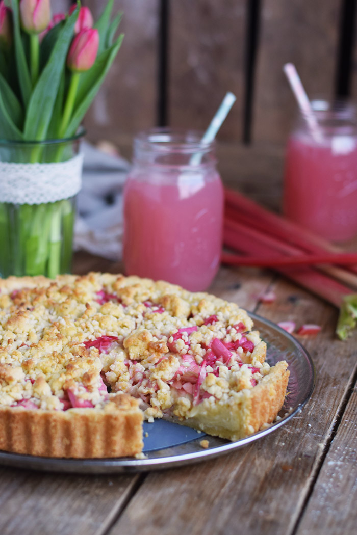 Rhabarber Streusel Tarte - Rhubarb Crumble Tart (2)
