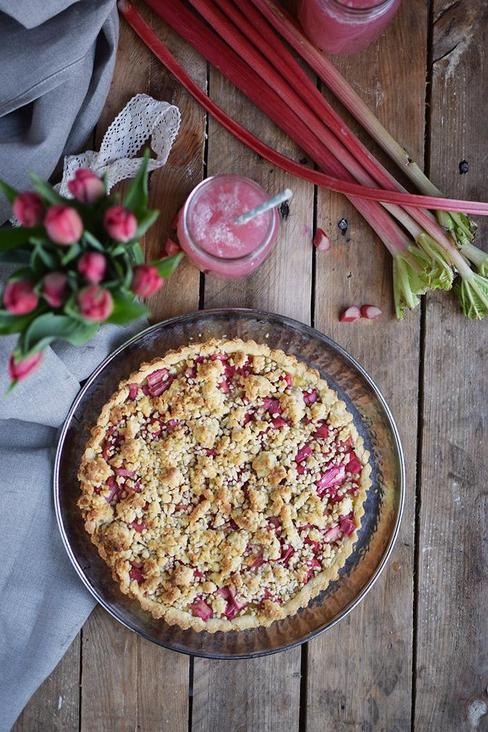 Rhabarber Streusel Tarte - Rhubarb Crumble Tart (25)