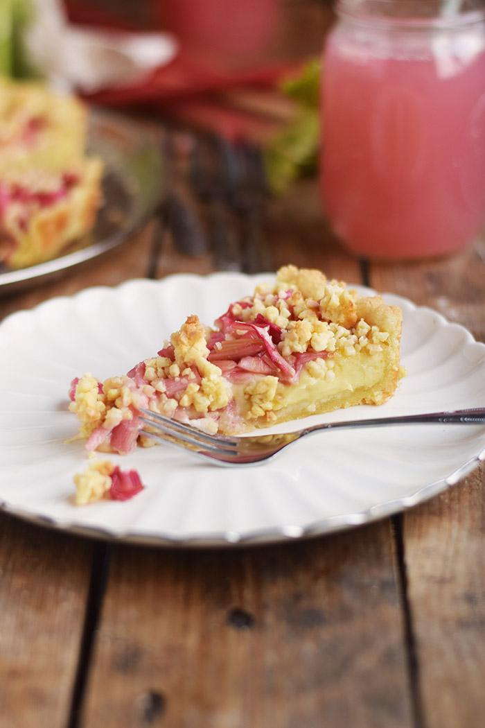 Rhabarber Streusel Tarte - Rhubarb Crumble Tart (8)