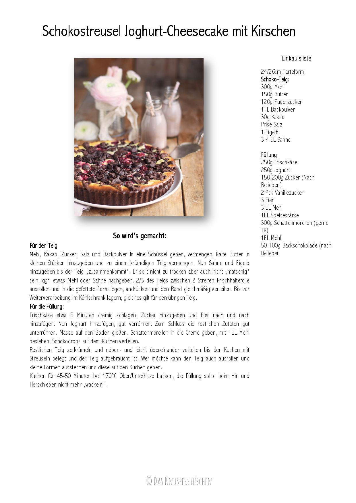 Schokostreusel Joghurt-Cheesecake mit Kirschen-001