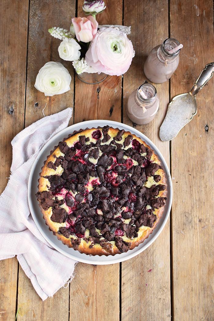 Schokostreusel Joghurt-Cheesecake mit Kirschen (17)
