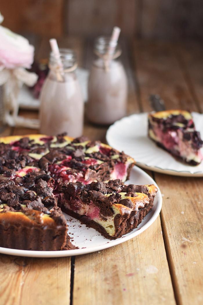 Schokostreusel Joghurt-Cheesecake mit Kirschen (4)