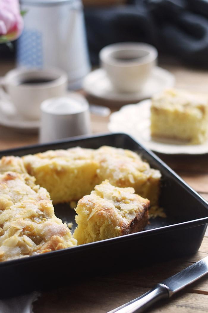 Butterkuchen mit Pudding - Butter Custard Cake Rezept (5)