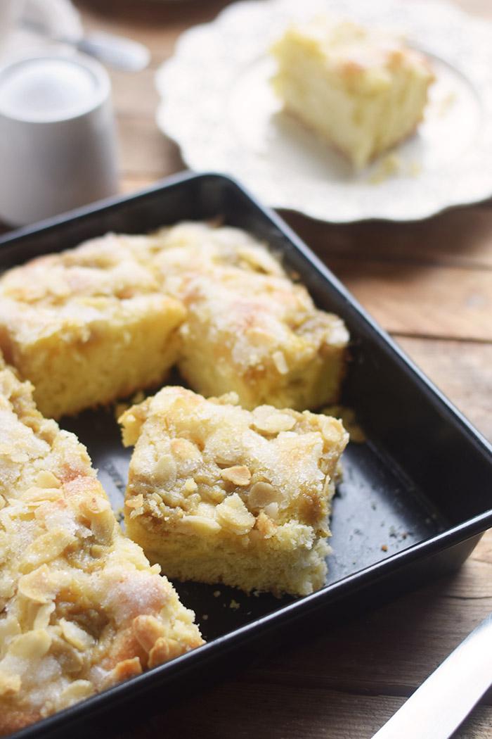 Butterkuchen mit Pudding - Butter Custard Cake Rezept (7)