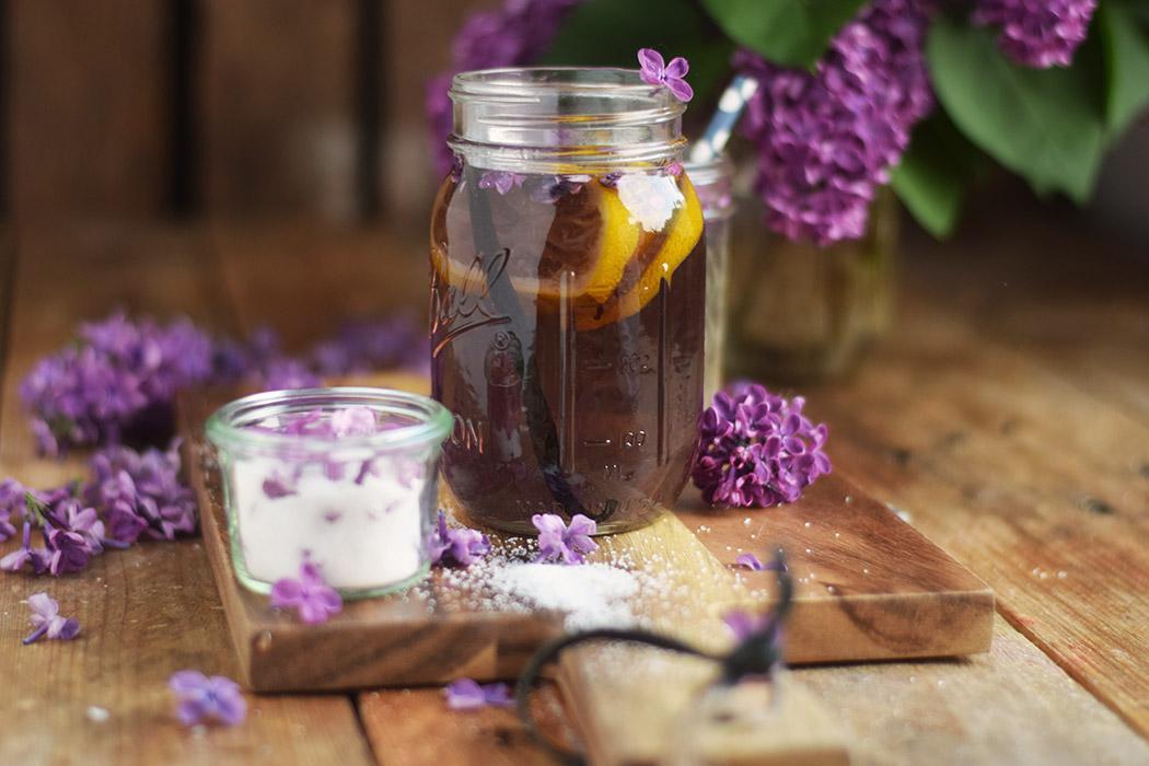 Flieder Blueten Sirup - Lilac Syrup - Fliedersirup (6)