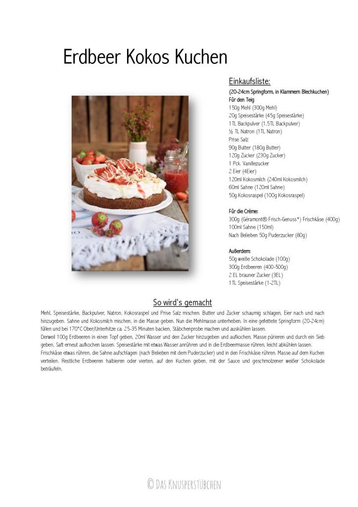 Kokoskuchen mit Frischkaese Creme und Erdbeeren - Coconut Cake with Cream Cheese and strawberries-001