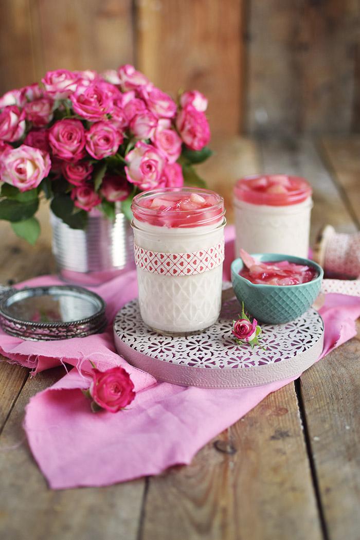 Mascarpone Buttermilch Dessert mit Rhabarber (18)