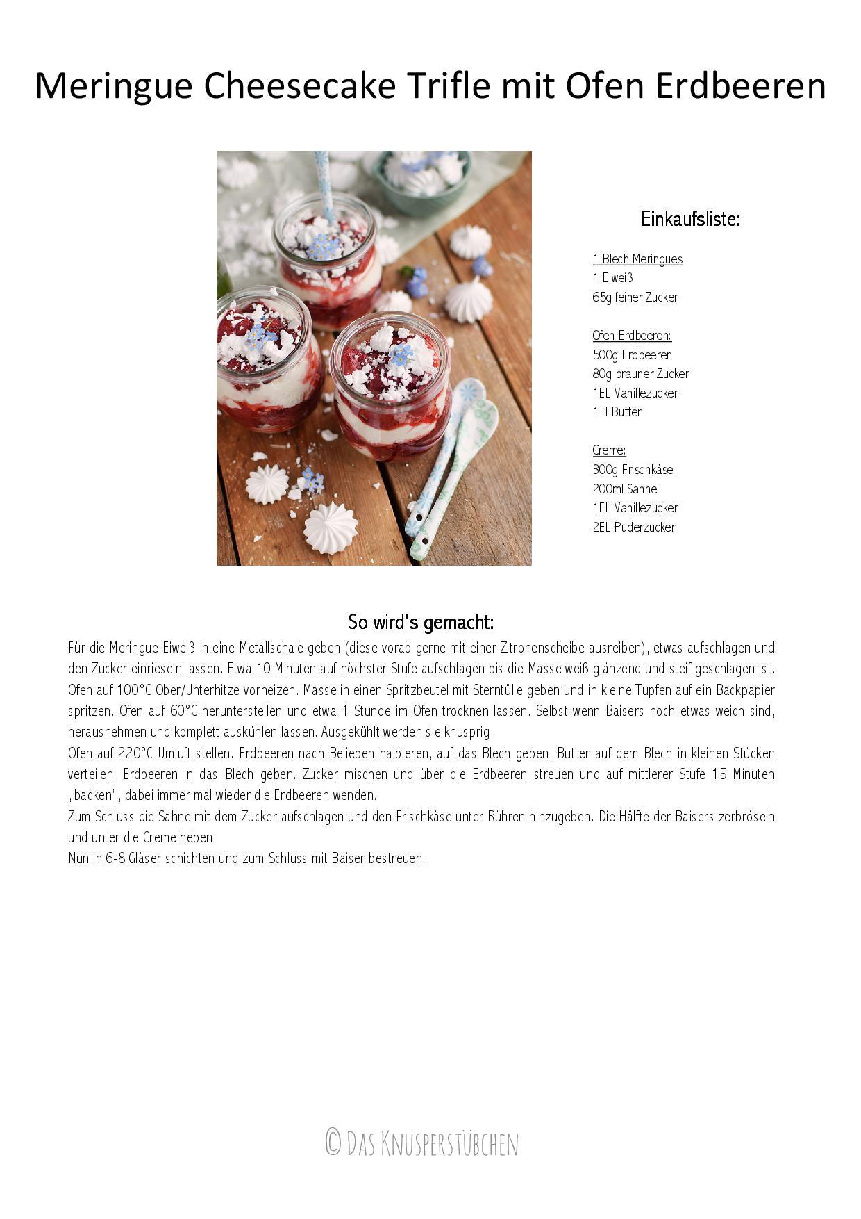 Meringue Cheesecake Trifle mit Ofen Erdbeeren-001