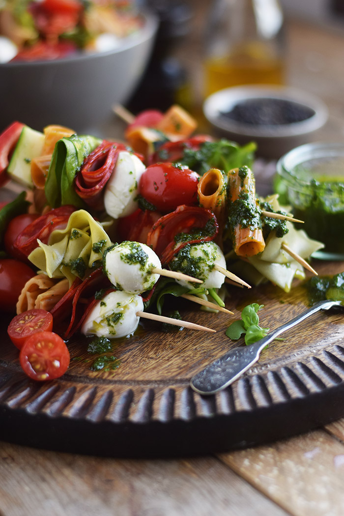 Pasta Salat Spiesse - Pasta Salad Skewers (25)