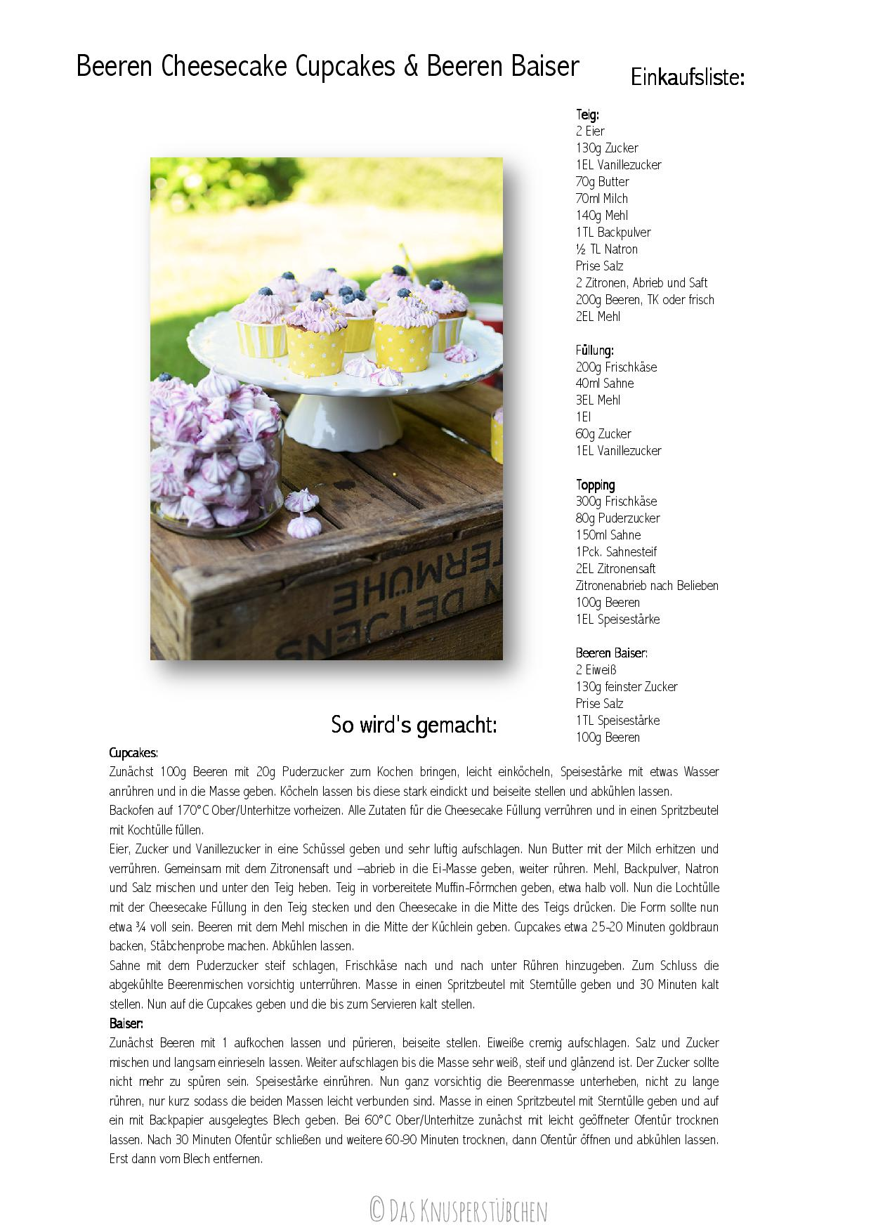 Beeren Cheesecake Cupcakes & Beeren Baiser Rezept-001