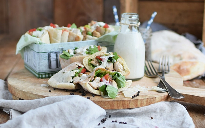Caesar Salad Pitas & #Projektwasserwoche (Werbung)