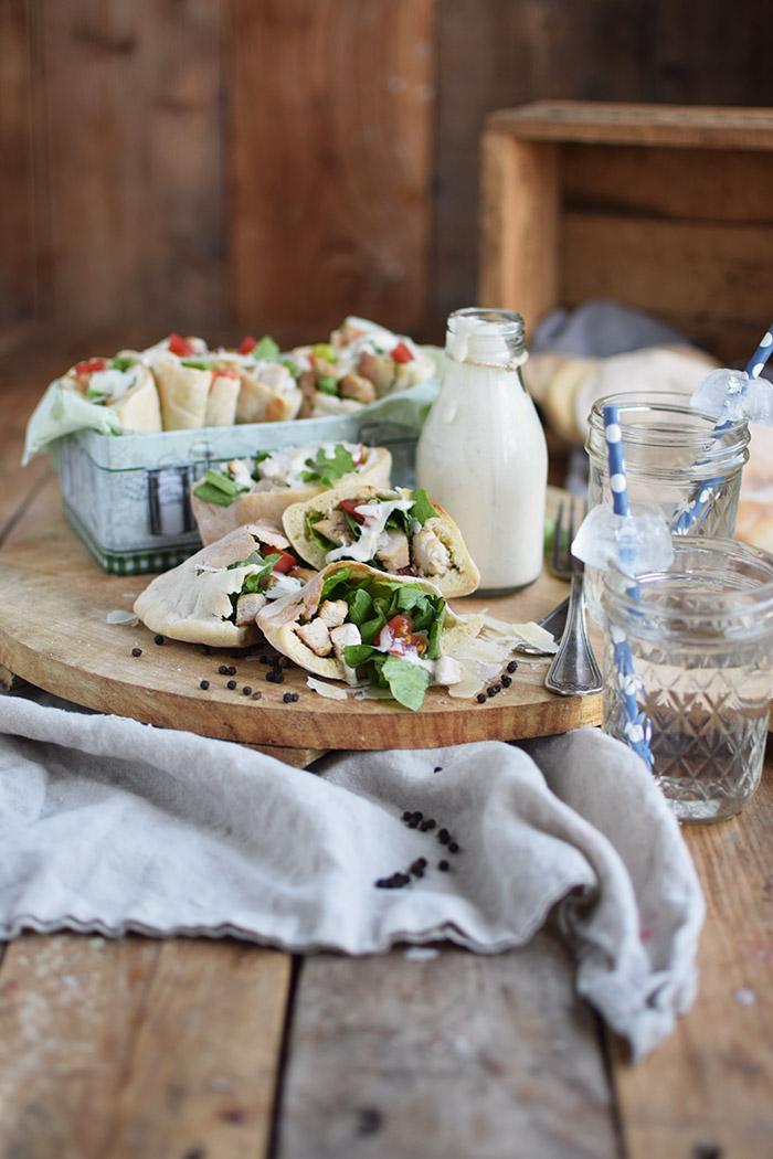 Caesar Salat Pitas - Caesar Salad Pita Bread (5)
