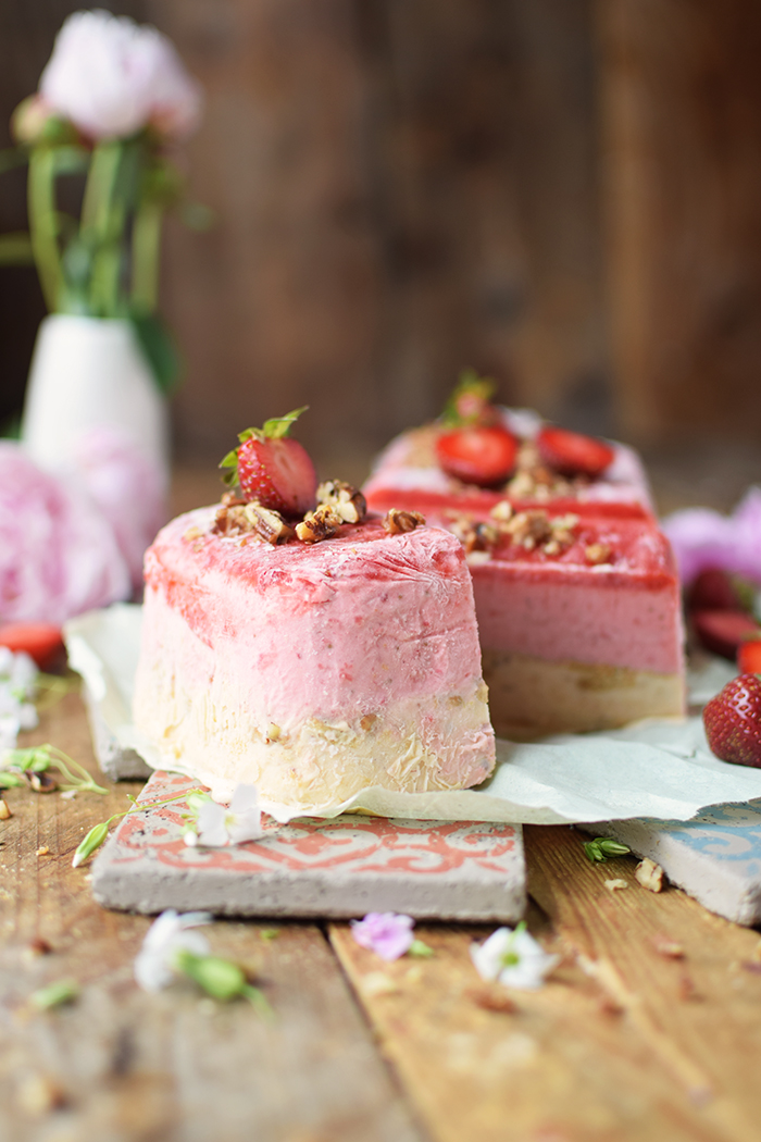 Erdbeer Pfirsich Parfait -Strawberry Peach Parfait (5)