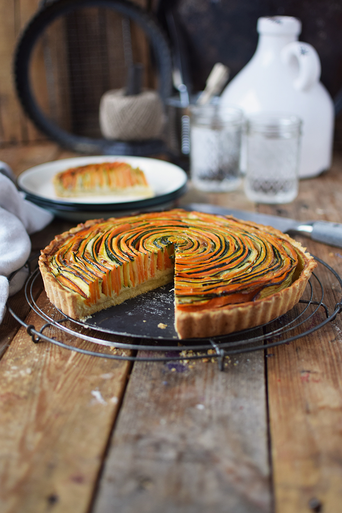 Gemuese Spiral Tarte - Vegetable Spiral Tart (10)