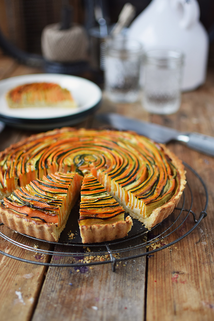 Gemuese Spiral Tarte - Vegetable Spiral Tart (20)