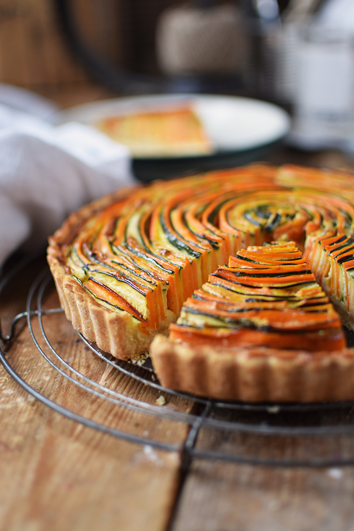 Gemuese Spiral Tarte - Vegetable Spiral Tart (25)