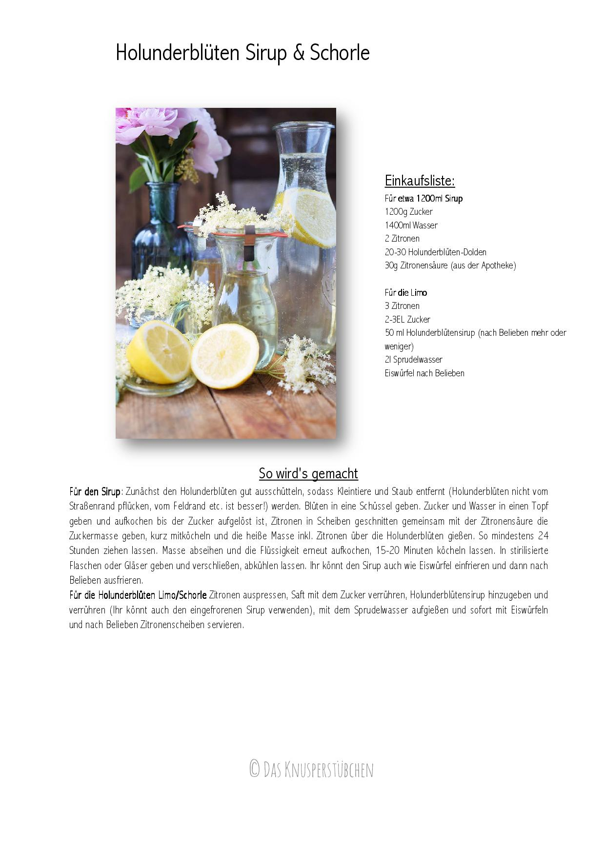 Holunderblueten Sirup & Schorle - Elderflower Cordial & Lemonoade-001
