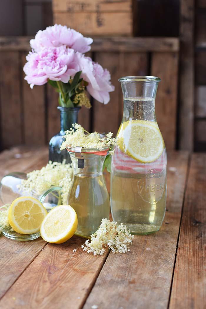 Holunderblueten Sirup & Schorle - Elderflower Cordial & Lemonoade (12)