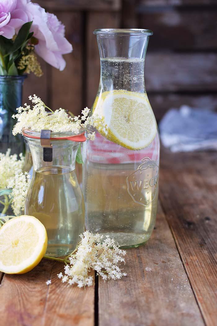 Holunderblueten Sirup & Schorle - Elderflower Cordial & Lemonoade (3)