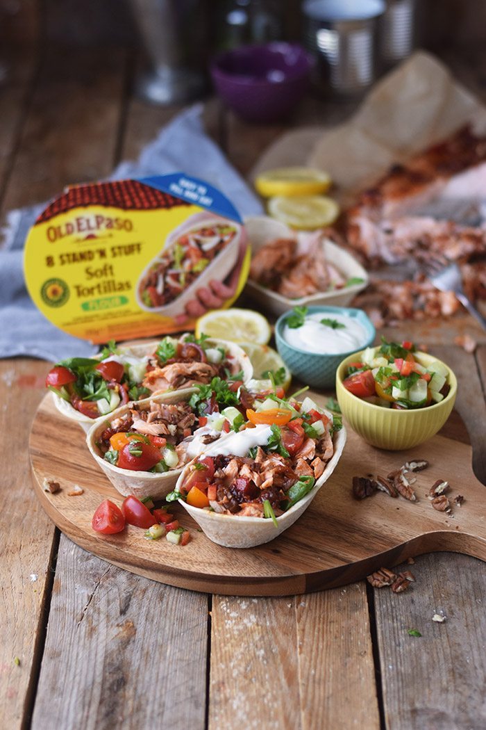 Pulled Lachs mit frischer Salsa - Pulled Salmon Tacos (15)