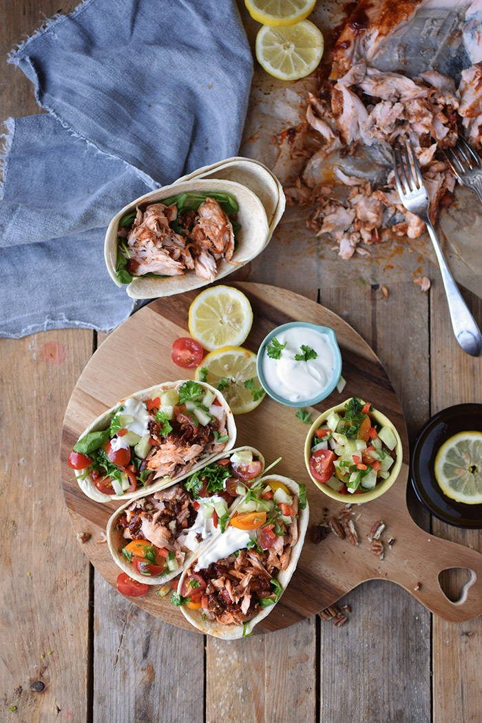 Pulled Lachs mit frischer Salsa - Pulled Salmon Tacos (16)