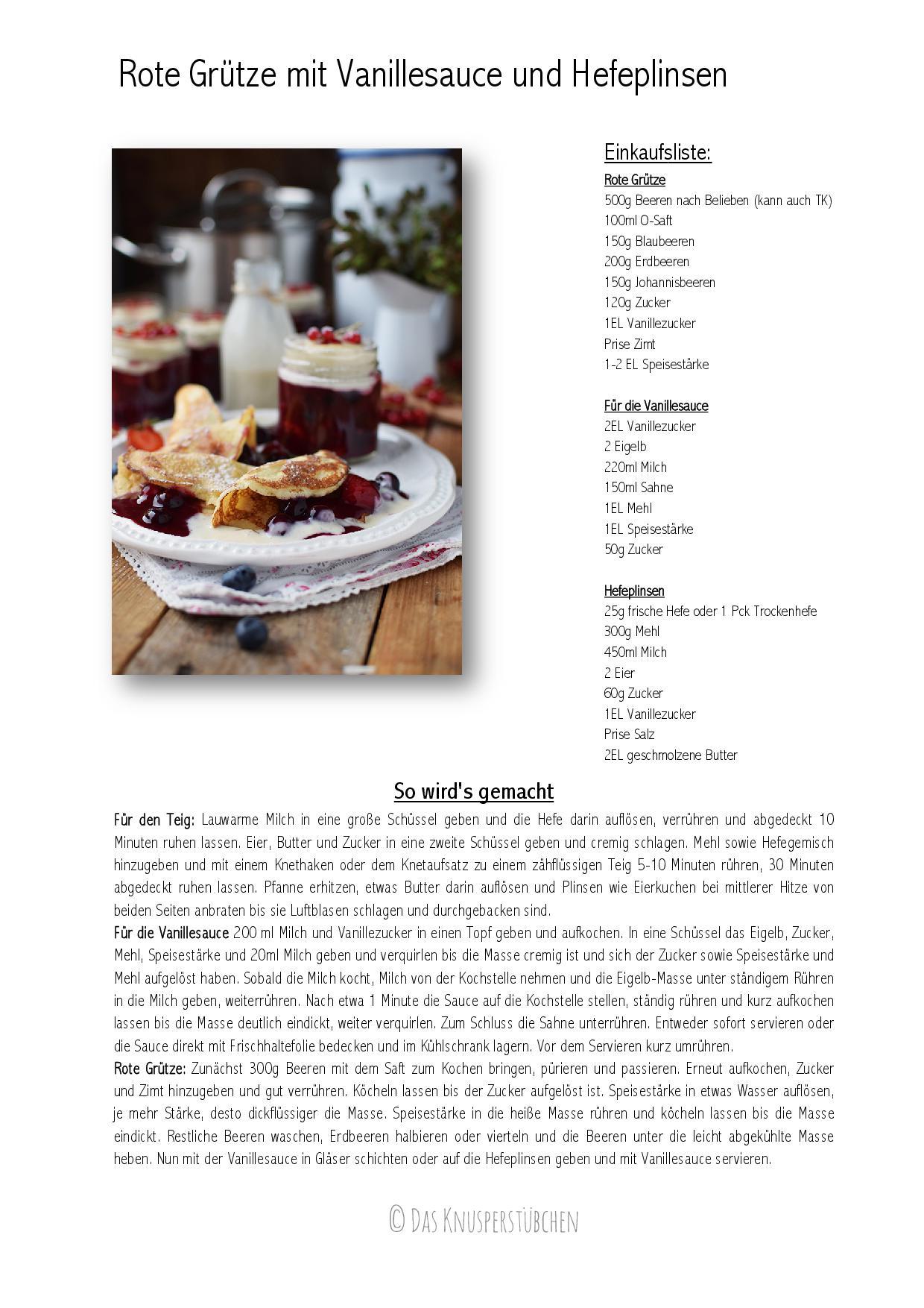 Rote Gruetze mit Vanillesauce und Hefeplinsen-001