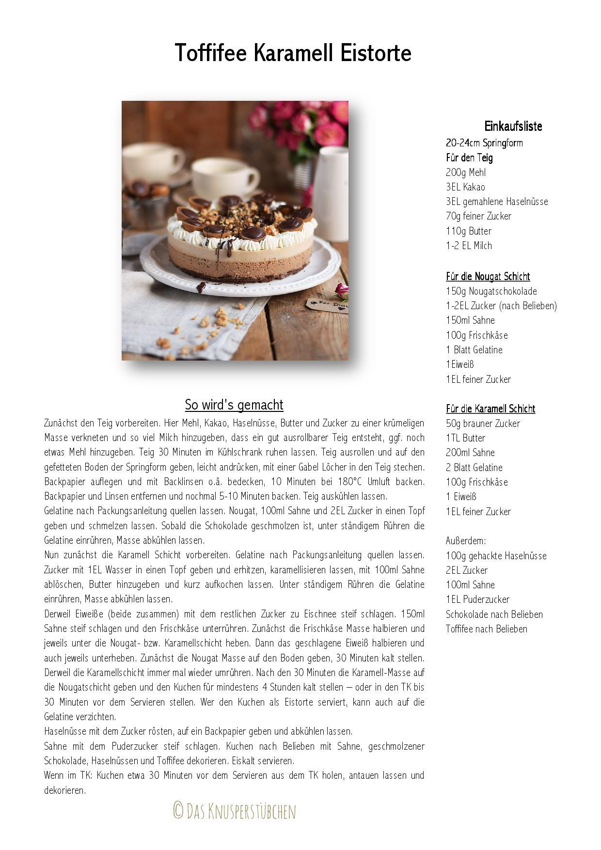 Toffifee Karamell Kuchen Ice Cream Cake-001