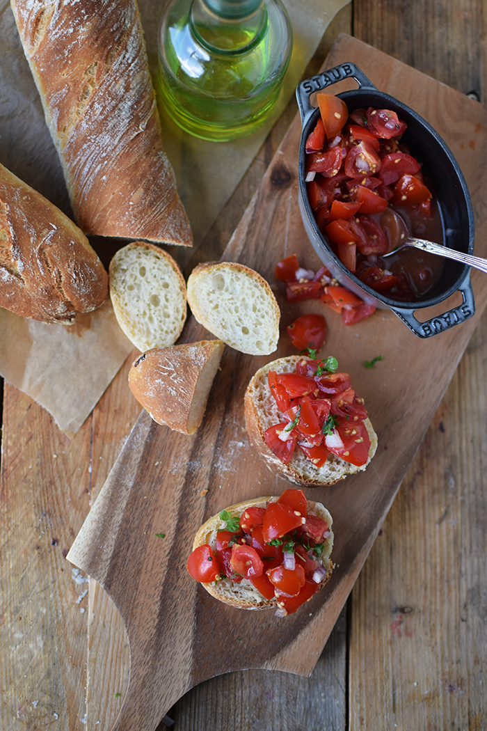 Baguette mit Bruschetta - Quick Baguette with Bruschetta (11)