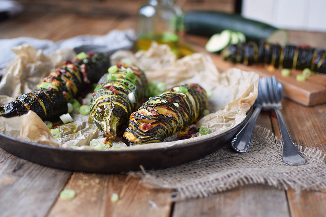 Hasselback Zucchini - Courgette - Rezept (2)