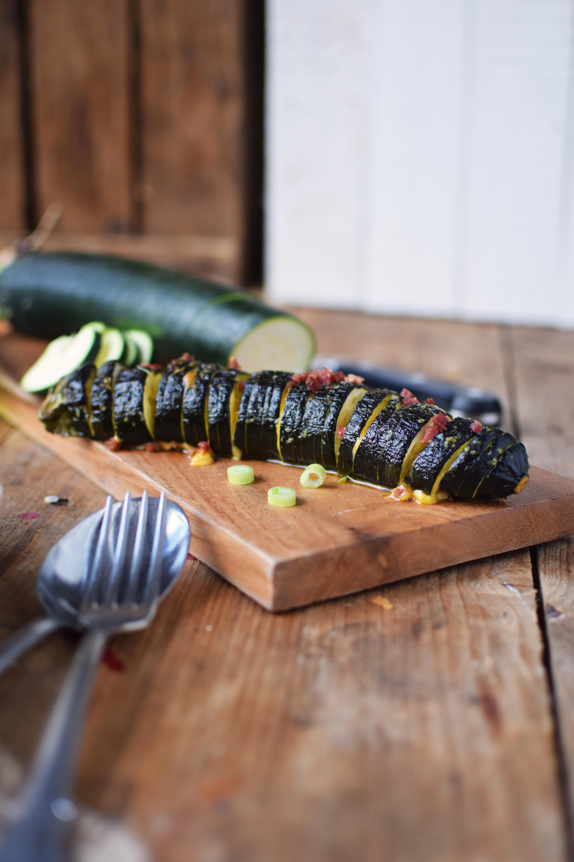 Hasselback Zucchini - Courgette - Rezept (3)