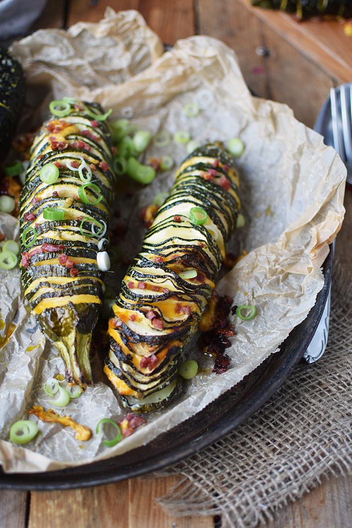 Hasselback Zucchini - Courgette - Rezept (4)
